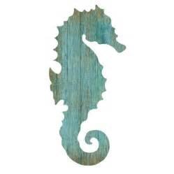 Seahorse Wall Decor seahorse silhouette facing right wall aqua