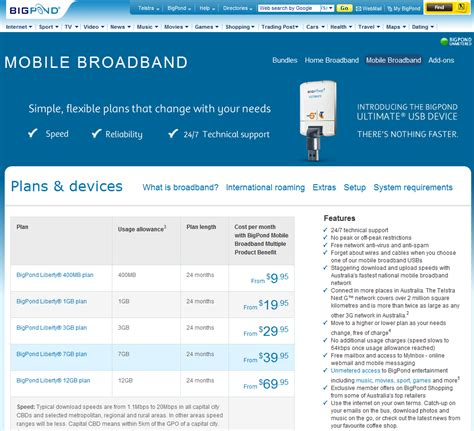 telstra bigpond new mobile plans that net site