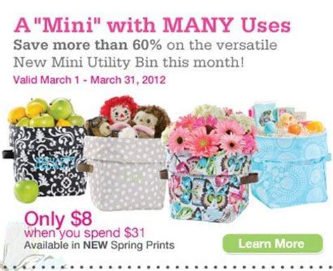 Thirty One Giveaway - over giveaway win a thirty one mini utility bin mamas on a dime