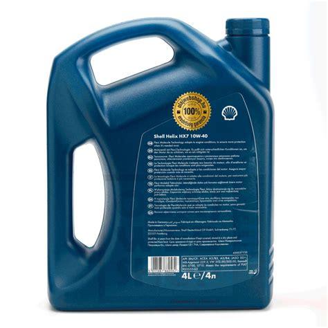 Shell Helix Hx 7 10w 40 shell helix hx7 10w 40 4 l 10w 40 motorolaj olajwebshop hu kenőanyag megb 237 zhat 243 forr 225 sb 243 l