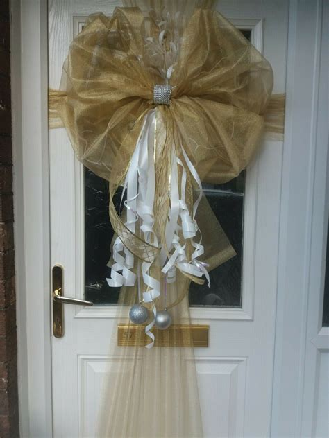 front door bow christmas wedding traditional