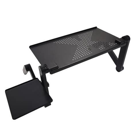 Computer Tray For Desk Portable Adjustable Laptop Desk Computer Table Stand Tray For Sofa Bed Black Ed Ebay