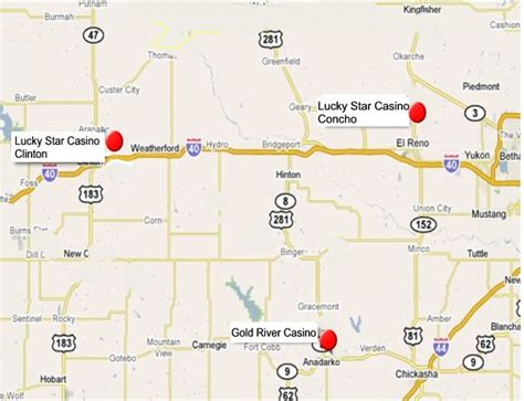 texas casinos map western oklahoma indian casinos