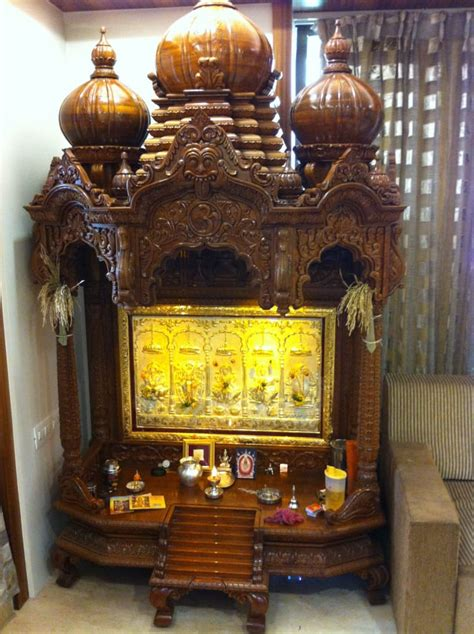 luxurious prayer room  wooden temple  sumit