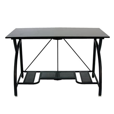 origami computer desk 30 h x 48 w x 23 12 d black by
