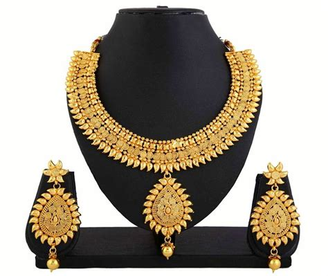 How To Buy Gold Jewelry 2 by Buy Gold Plated Necklace Earrings Set