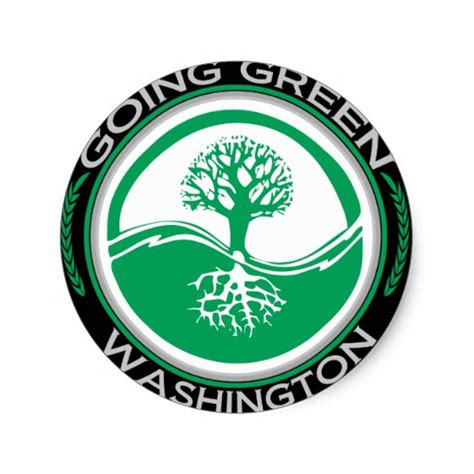 Green Mba Washingston State by Going Green Tree Washington Sticker At Zazzle Ca