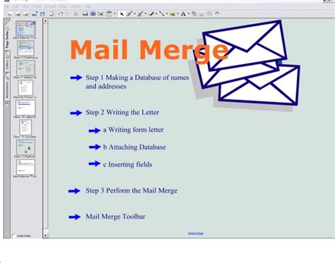 survey galaxy mail merge office 2007