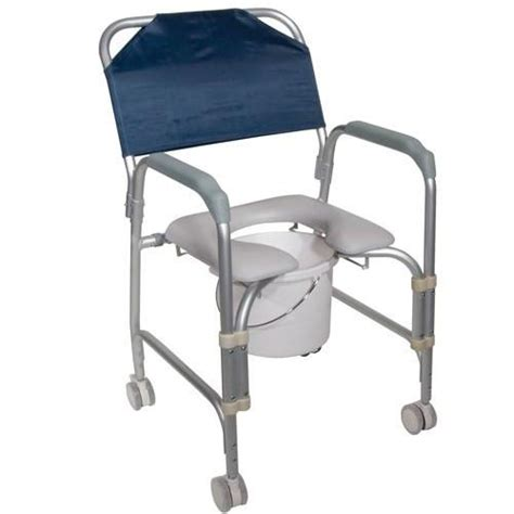rolling shower chair with padded seat padded shower chair with commode and rolling casters