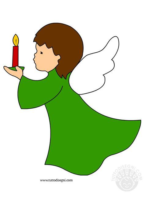 candela disegno angelo con candela da stare tuttodisegni