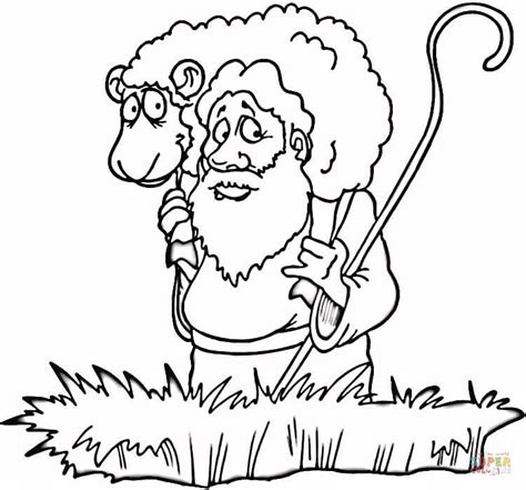 coloring page lost sheep lost sheep coloring online