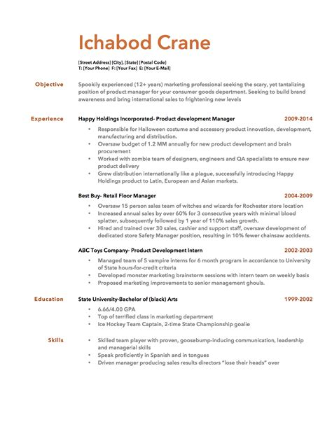 Resume Bullet Point Style Resume Template Bullet Points Resume Template