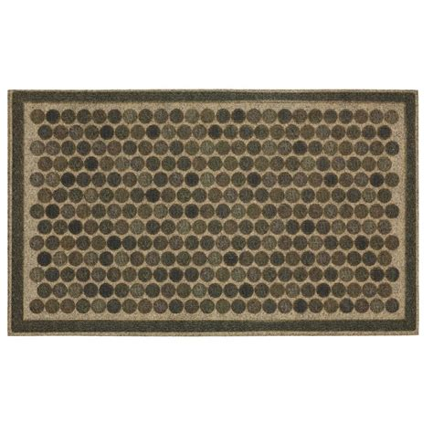 Gray Doormat by Mohawk Colorful Dots Gray 18 In X 30 In Ornamental Entry