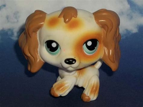 lps ebay dogs littlest pet shop rustic spotted cocker spaniel 344 retired lps puppy ebay