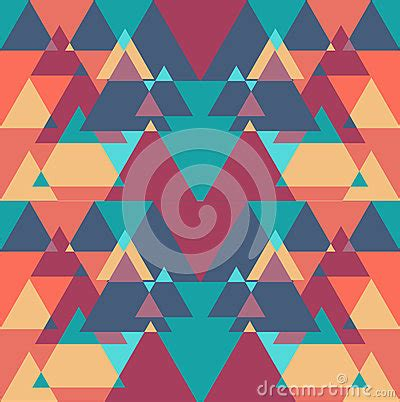 triangle color pattern vector seamless geometric triangle color pattern background stock