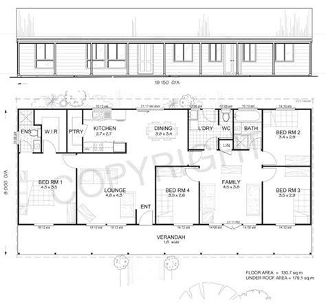 steel building home floor plans earlwood 4 met kit homes 4 bedroom steel frame kit