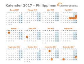 Philippines Kalender 2018 Feiertage 2017 Philippinen Kalender 220 Bersicht