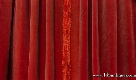 velvet drapes on sale two pairs of paprika color velvet drapes for sale at 1stdibs