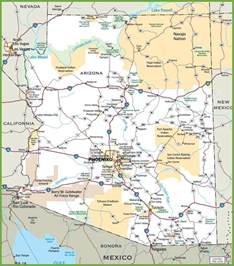 arizona county map with roads arizona road map