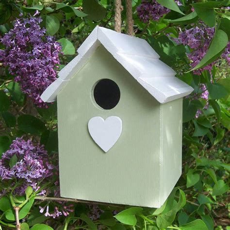 handmade hanging bird house by the painted broom company