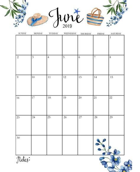 blank june  calendar templates blank june