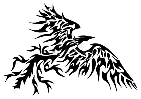 tattoo tribal phoenix stock illustration illustration of