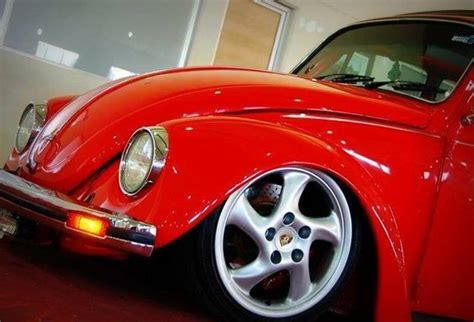 porsche wheels on vw volkswagen beetle with porsche wheels