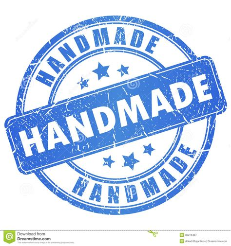 Handcrafted By - vector handmade st royalty free stock photography