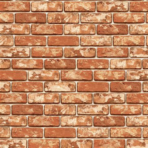 Zc Wallpaper Sticker Brown Brick Texture vintage shabby brick effect self adhesive wallpaper