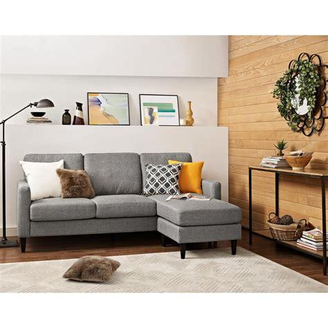 one piece sectional sofa dorel jenny contemporary 1 piece gray sectional fa7567 sec