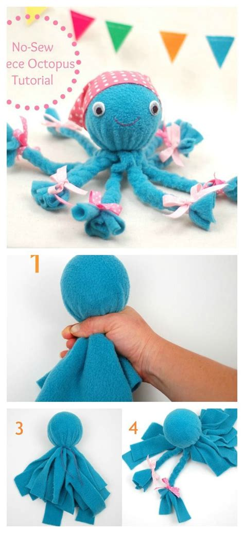 Shark Home Decor by Diy No Sew Fleece Octopus Craft Octopus Crafts Craft
