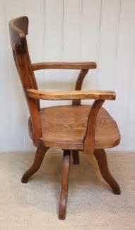 Oak Office Chair by Oak Swivel Office Chair Antiques Atlas