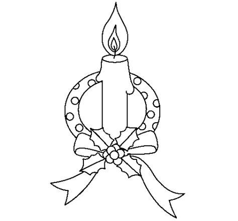 dibujos de navidad para colorear net dibujo de vela de navidad iii para colorear dibujos net