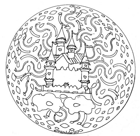 Mandala Domandalas Castle Mandalas Coloring Pages For