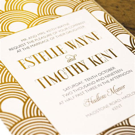 Wedding Invitations Great Gatsby by Great Gatsby Wedding Invitation By Feel Wedding