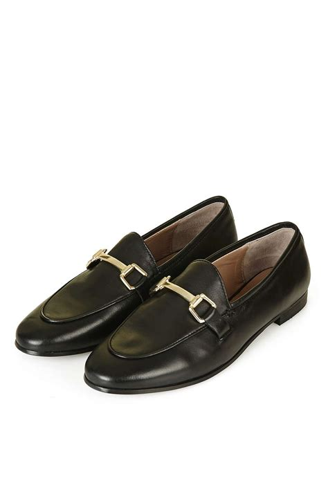 loafers leather kendall leather buckle loafer topshop