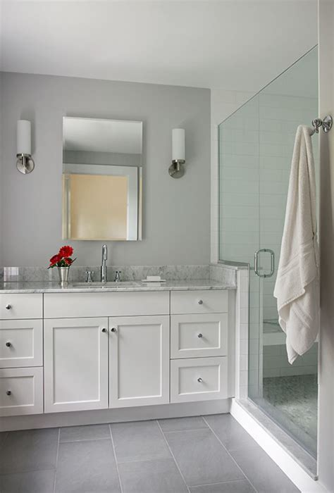white grey bathroom ideas modern white shaker style vanity google search modern