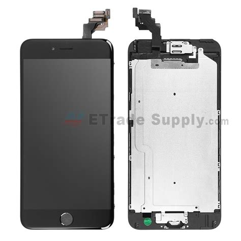Lcd Iphone 6 S Plus apple iphone 6 plus lcd assembly with frame and home button black etrade supply