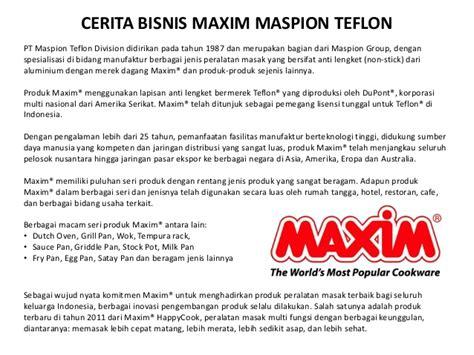 Teflon Maxim Surabaya motivasi bisnis kuliner milenium
