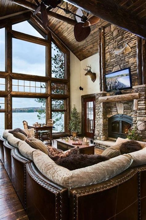 rustic lake house decorating ideas 55 airy and cozy rustic living room designs digsdigs