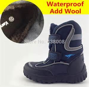 Top 2014 fashion children snow boots genuine leather waterproof kids