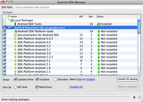 android sdk versions installing the android sdk on your computer ngcore mobage developers documentation center