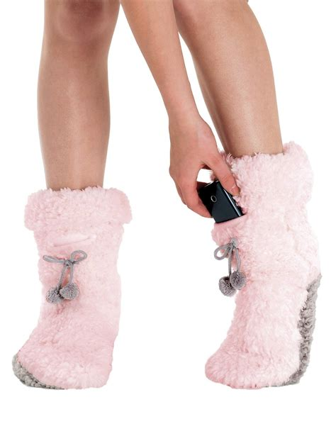 pink fuzzy slipper boots plush fuzzy slippers fleece lined light pink slipper boots