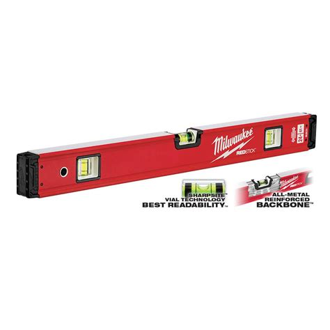 milwaukee 24 in redstick box level mlbx24 the home depot