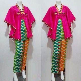 32 model batik setelan wanita kombinasi rok panjang modern