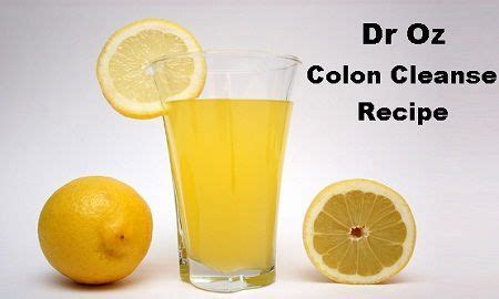 Dr Oz Detox Plan by Dr Oz Colon Cleanse Recipe Detox Diet Plan