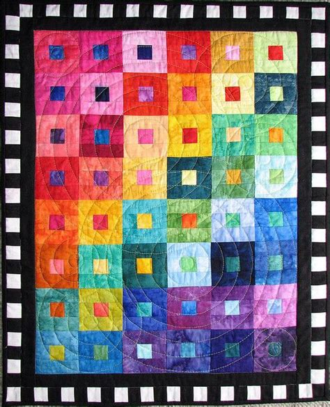 Color Quilt 490 Best Rainbow Quilts Images On Rainbow