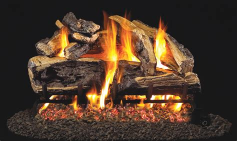 peterson charred rugged split oak vented gas log set