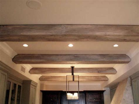 decke holzbalken faux driftwood beams for the home kitchen