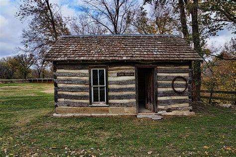 Kansas Cabins by Kansas Log Cabin Photograph By Alan Hutchins